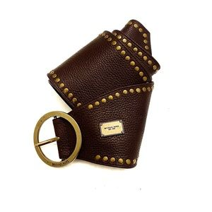 Michael Kors Wide Leather Belt Boho Size Large